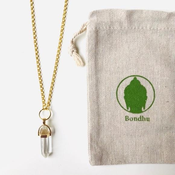 Bondhu Jewelry - Crystal Pendant Necklace